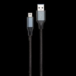 CORDON USB 2.0 A/MINI M/M NYLON NOIR 2M